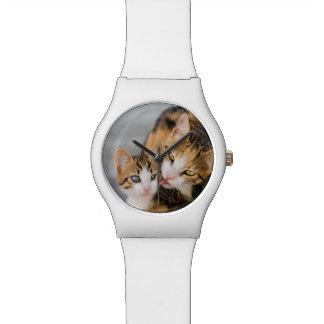 Mother Cat Loves Cute Kitten Photo - women Wristwatches