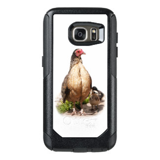 Mother Chicken and Baby Chickens OtterBox Samsung Galaxy S7 Case