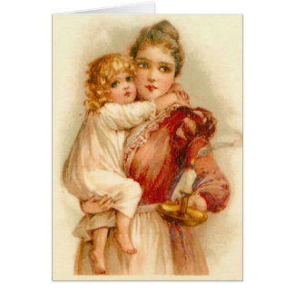 Mother & Child at Bedtime, Card