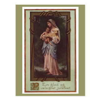 Mother & Child Holiday Postcard