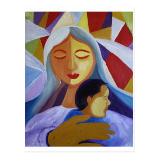 Mother & Child in Cubism World Postcard
