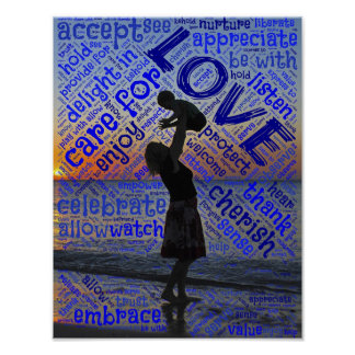 Mother Child Love and Cherish Poster