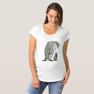 Mother child penguins maternity T-Shirt