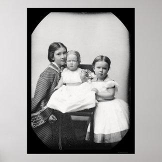 Mother & Children, Gertrude Hubbard Daguerreotype Poster