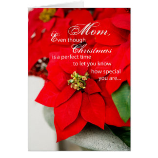 Mother Christmas Poinsettia Card