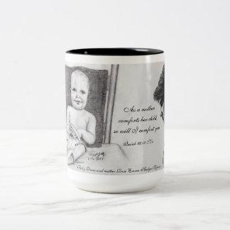 Mother Comfort Scripture Two-Tone Coffee Mug