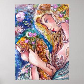 Mother & Daughter Mermaids Print