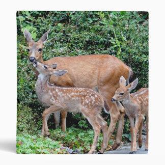 Mother Deer and Fawns Photo Vinyl Binders