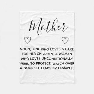 mother defined as fleece blanket