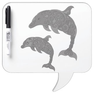 Mother Dolphin with Baby Dry Erase Whiteboards