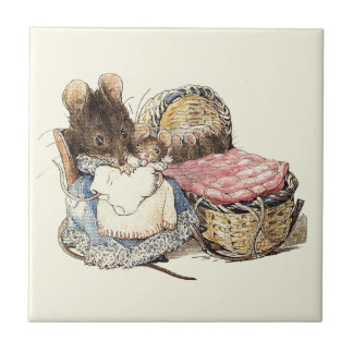 Mother Dormouse and Her Child Tiles