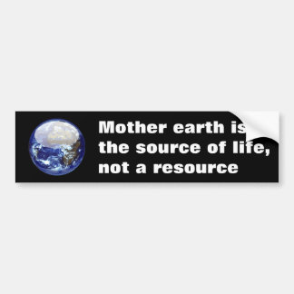 Mother Earth Bumper Sticker