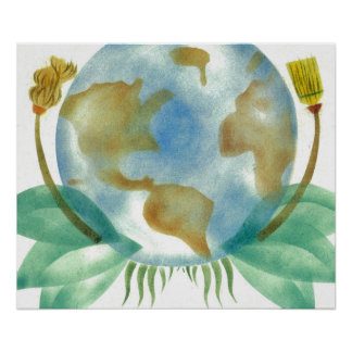 Mother Earth Clean Her Up Poster
