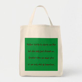 """""""Mother Earth"""" Inspirational Grocery Tote"""