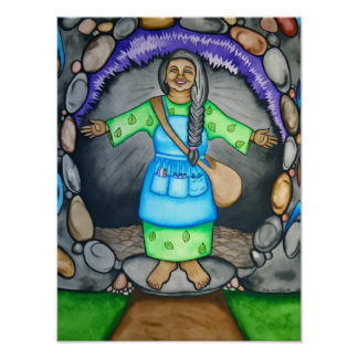 Mother Earth Welcomes you by Rita Loyd Poster