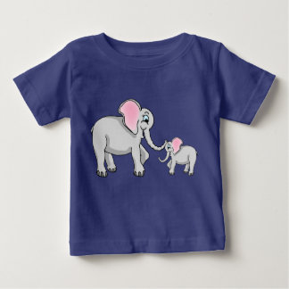 Mother Elephant and Baby Elephant T-Shirt
