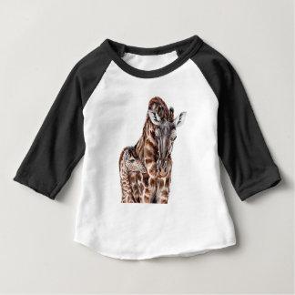 Mother Giraffe with Baby Giraffe Baby T-Shirt