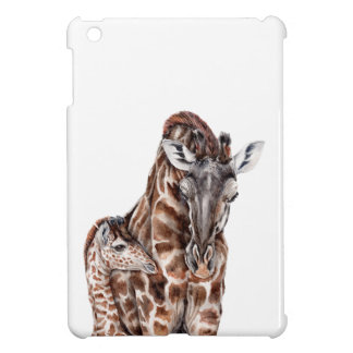 Mother Giraffe with Baby Giraffe Case For The iPad Mini