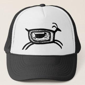 Mother goat-BW Trucker Hat
