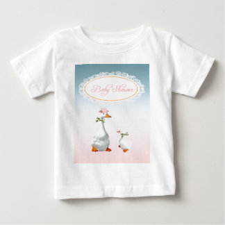 Mother Goose wearing Bonnet & Glasses with Baby Baby T-Shirt