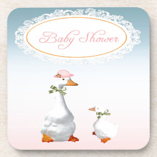 Mother Goose wearing Bonnet & Glasses with Baby Beverage Coaster
