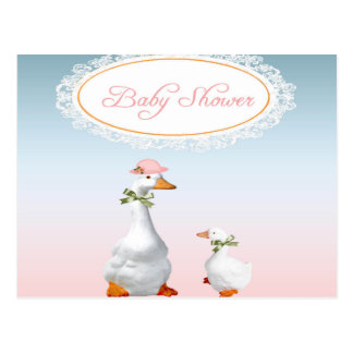 Mother Goose wearing Bonnet & Glasses with Baby Postcard