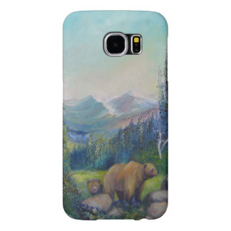 Mother Grizzly Bear with Cub, by Sue Ann Jackson Samsung Galaxy S6 Cases