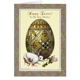 Mother Happy Easter - Egg and Bunny Card