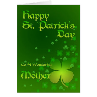 Mother, Happy St Patrick's day card