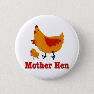Mother Hen 2 Inch Round Button