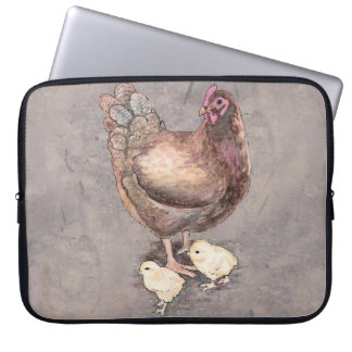 Mother Hen and Chicks Laptop Sleeve