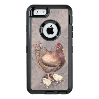 Mother Hen and Chicks OtterBox Defender iPhone Case