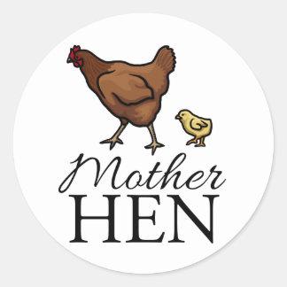 Mother Hen Round Sticker