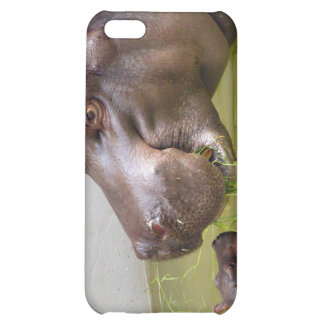 Mother Hippo with Little Baby Hippo Cover For iPhone 5C