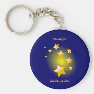 Mother-in-Law, Brilliant Stars Design Keychain