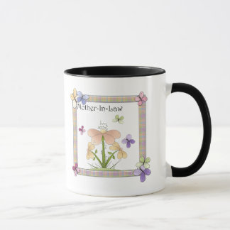 Mother-In-Law Butterfly Flower Mothers Day Gifts Mug