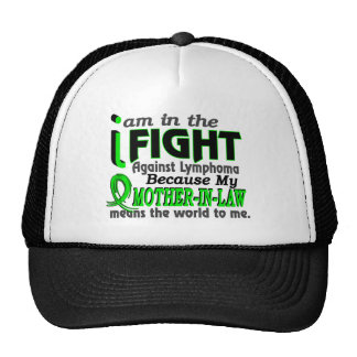 Mother-In-Law Means The World To Me Breast Cancer Trucker Hat