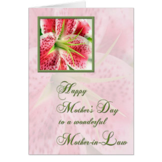 Mother-in-Law Mother's Day Card