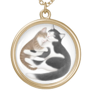 Mother Kitty Cat Love Necklace