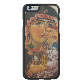 Mother Mary And Jesus Art Carved Maple iPhone 6 Case