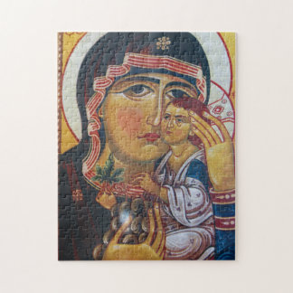Mother Mary And Jesus Art Jigsaw Puzzle