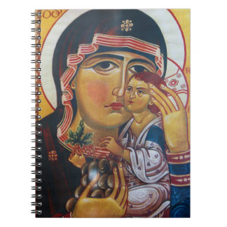 Mother Mary And Jesus Art Notebook
