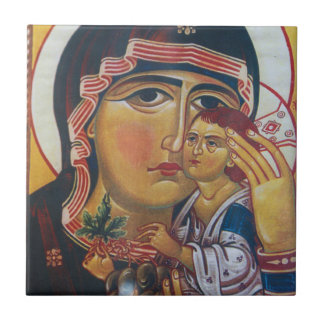 Mother Mary And Jesus Art Tile