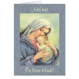 Mother Mary Baby Jesus Faith Greeting Card