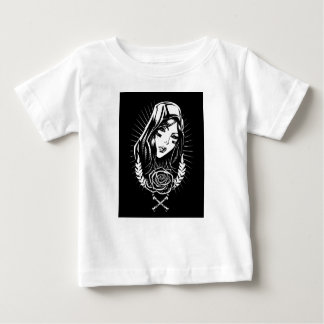 Mother Mary Chicano Art Baby T-Shirt