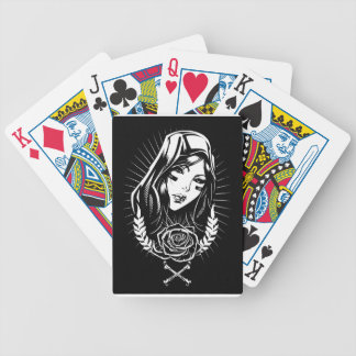 Mother Mary Chicano Art Bicycle Playing Cards