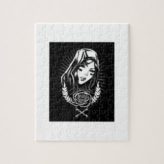Mother Mary Chicano Art Jigsaw Puzzle