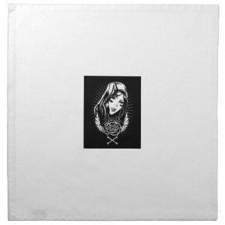 Mother Mary Chicano Art Napkin