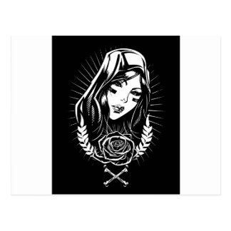 Mother Mary Chicano Art Postcard