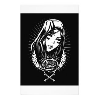 Mother Mary Chicano Art Stationery